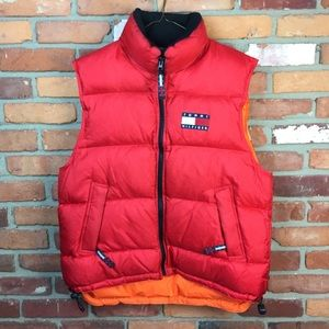 Vintage 90s Tommy Hilfiger windbreaker puff vest M